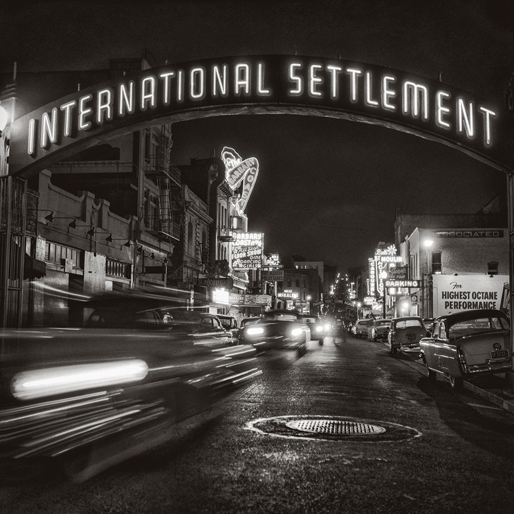 San Francisco Noir International settlement sign