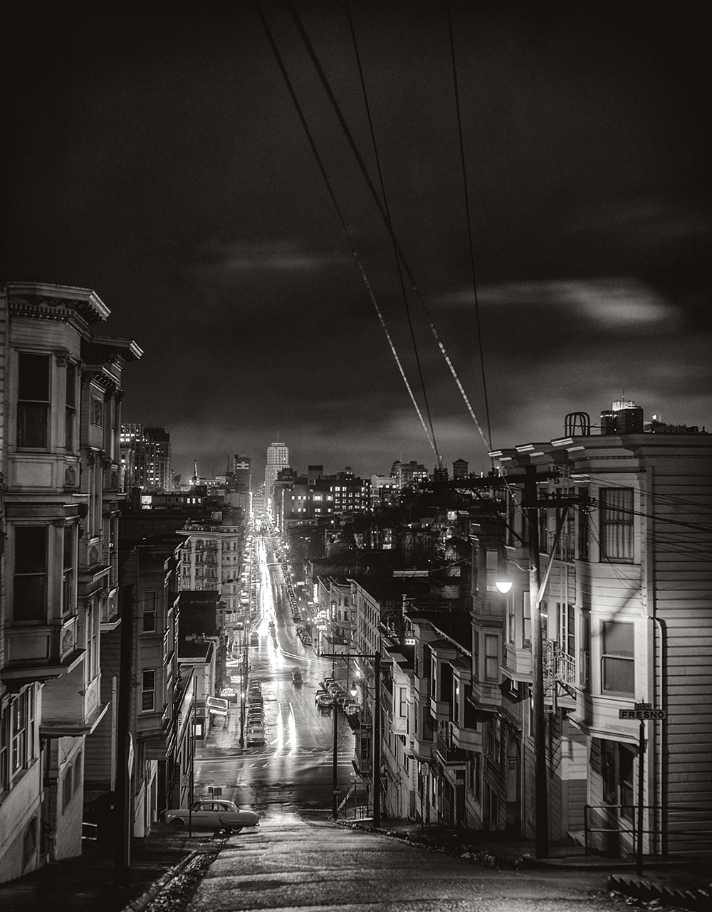 San Francisco Noir hilly streets and tram