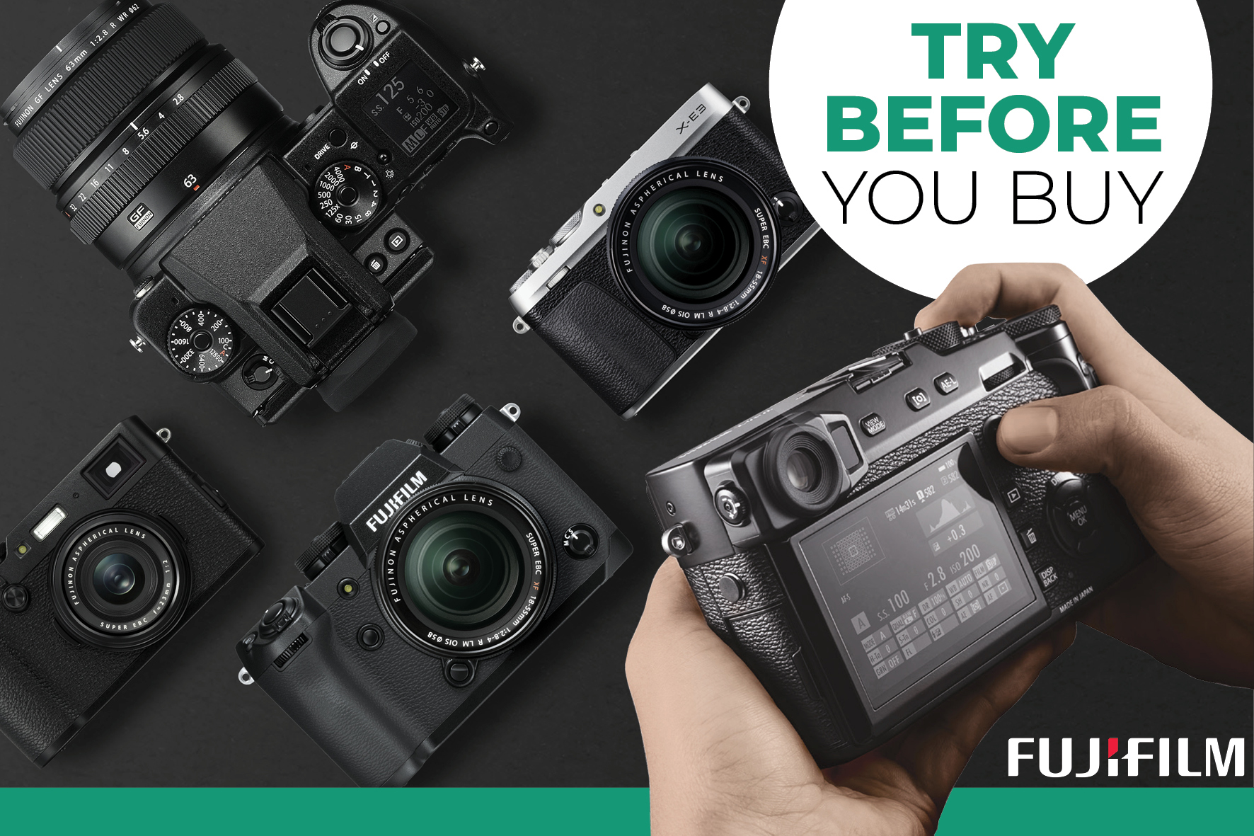 Hireacamera and Fujifilm launch Nationwide Try Before You Buy Initiative