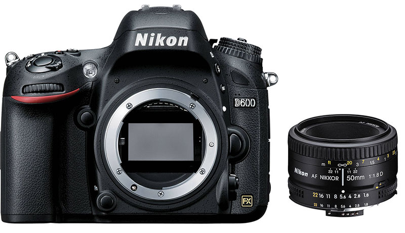 Nikon D600 with lens - best used DSLRs