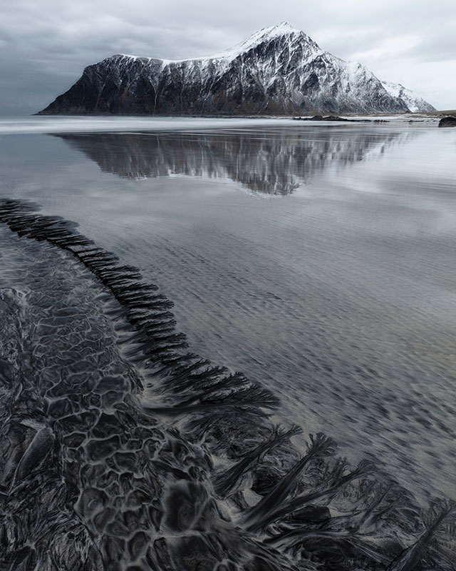 Lofoten Islands granite shorelines
