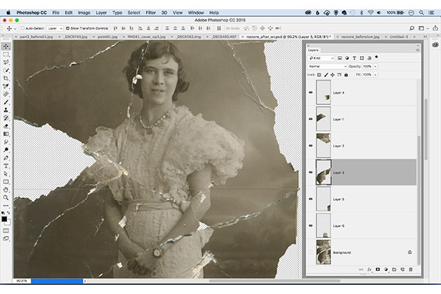 Restore old prints with Photoshop Elements