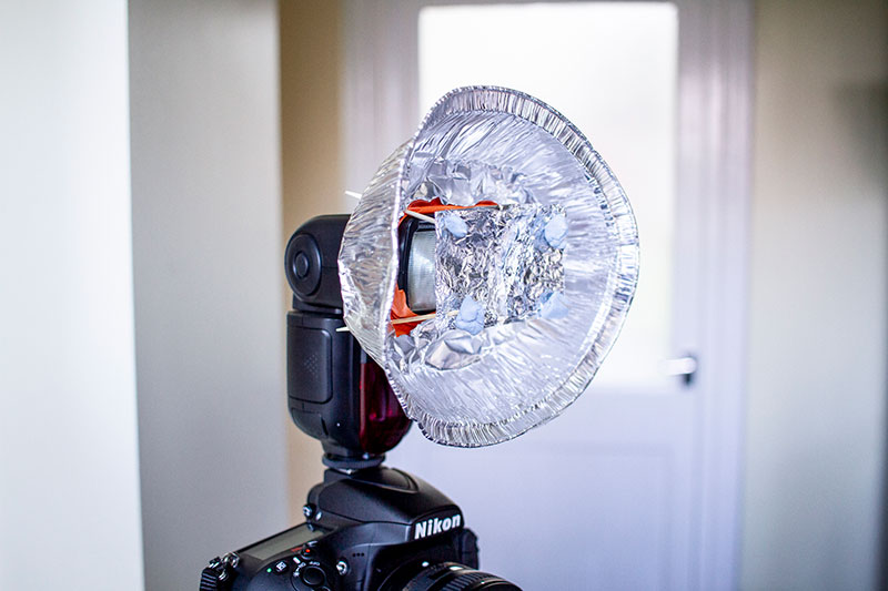 home lighting beauty dish set-up