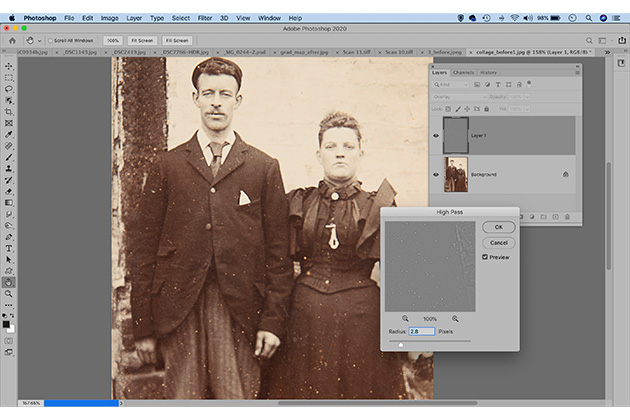 Photo restoration improve soft details
