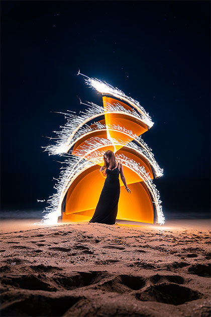 Light painting Andrea Riezzo