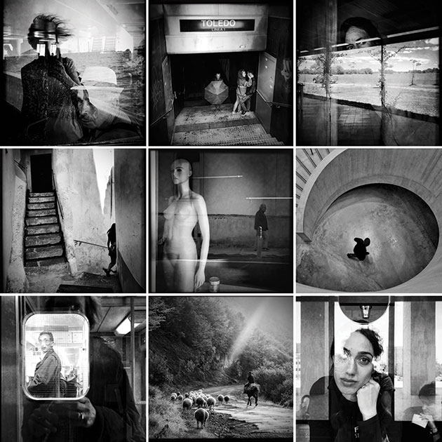 Instagram Marina Sersale black and white image group