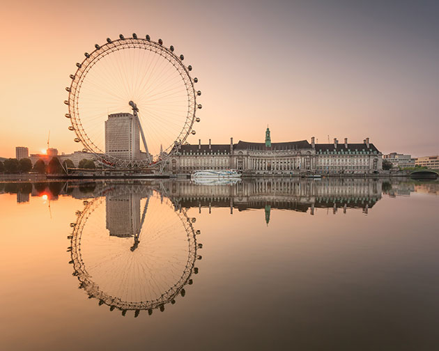 Photographing London Vol 1 Wheel at Sunrise