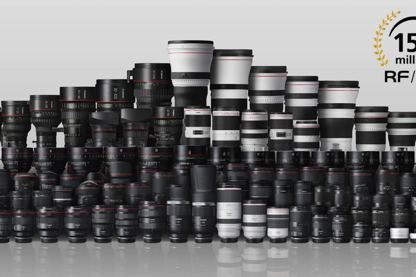 Canon has rolled out 150 million RF and EF lenses – enough to go around the globe