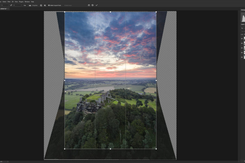 How to create vertical panoramas with drones