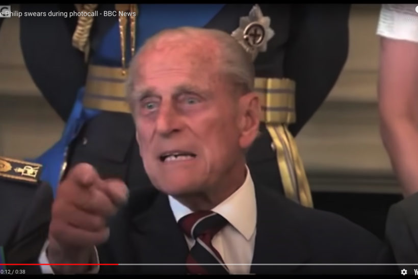 Prince Philip and photographers