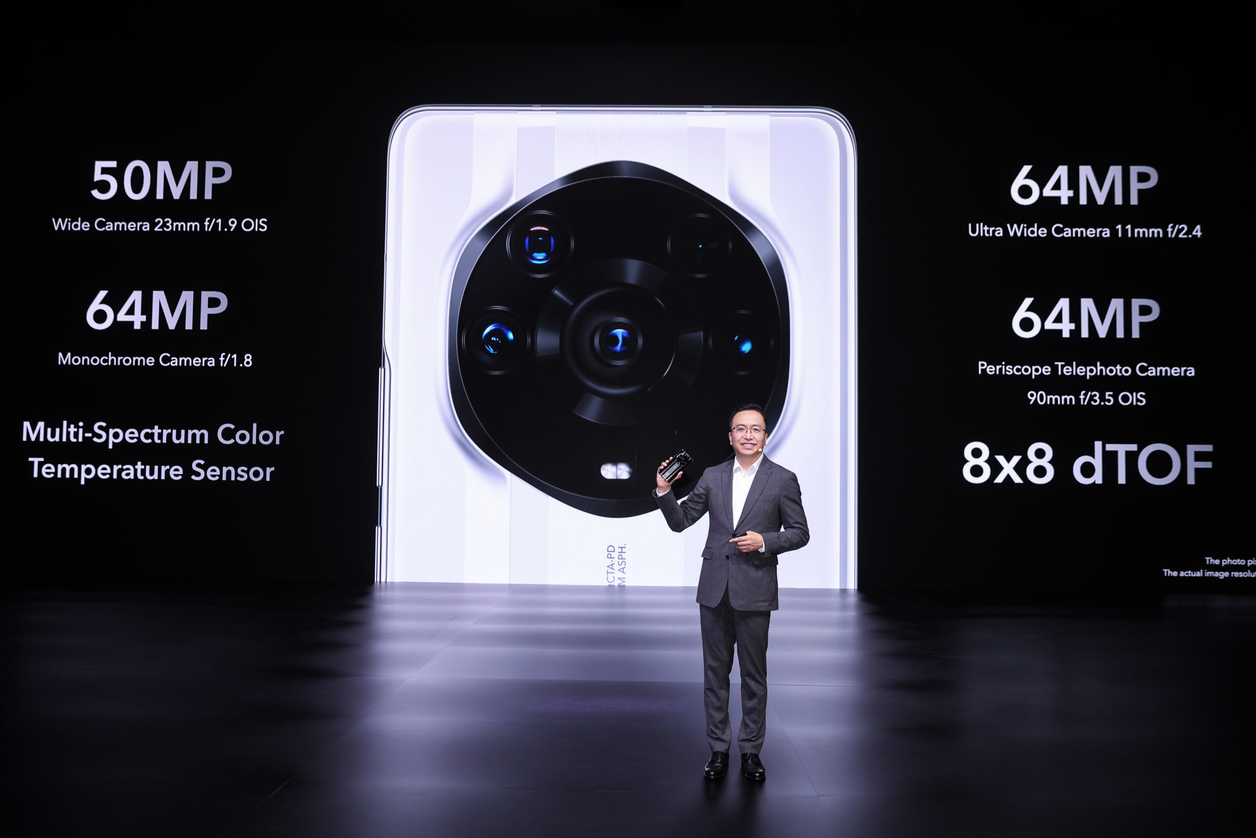 George Zhao, CEO of HONOR Device Co, Ltd, presenting the Honor Magic3 Pro+