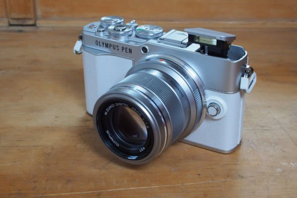 Olympus PEN E-P7 with pop-up flash