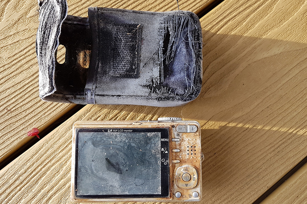 The recovered camera after being left for 12 years