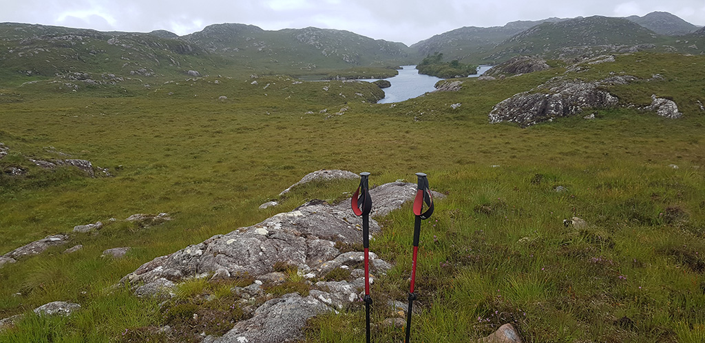 View of Lochan Giubhais by Mike Price where the camera was found