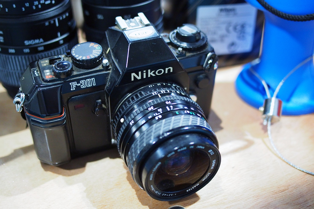 Nikon F301 at TPS on the Disabled Photographers Society Stand