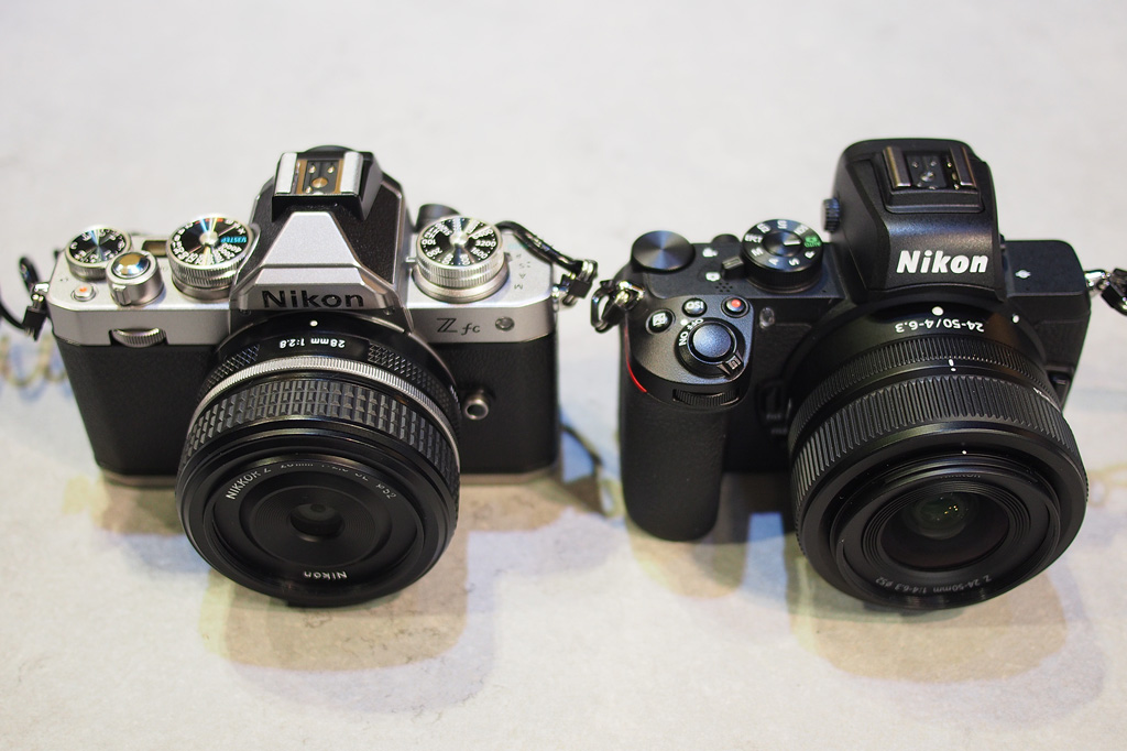 Nikon Zfc and Nikon Z50 side-by-side at TPS