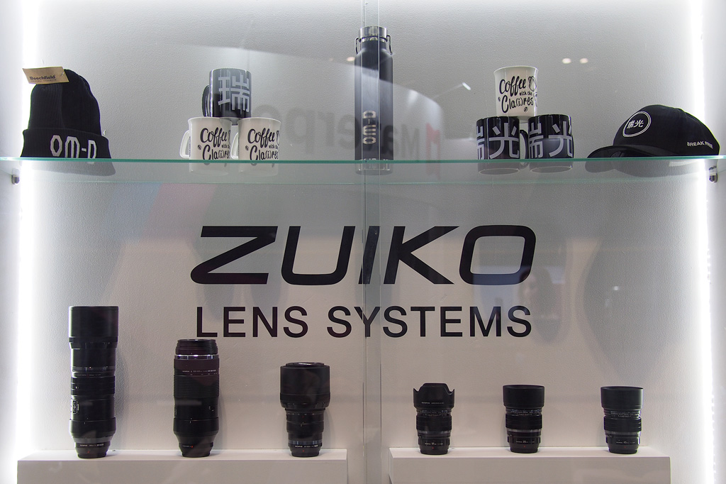 Olympus Zuiko Lenses and Branded Merchandise at TPS