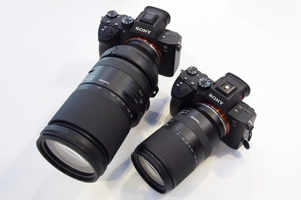 Tamron 18-300mm f/3.5-6.3 Di III-A VC VXD with 150-500mm lens TPS