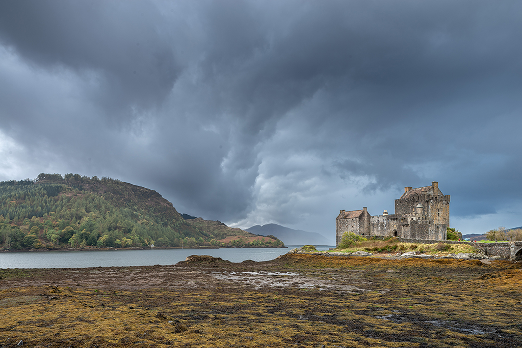 Eilean Donan Castle, after photo. with graduated filter adjustments, contrast and clarity