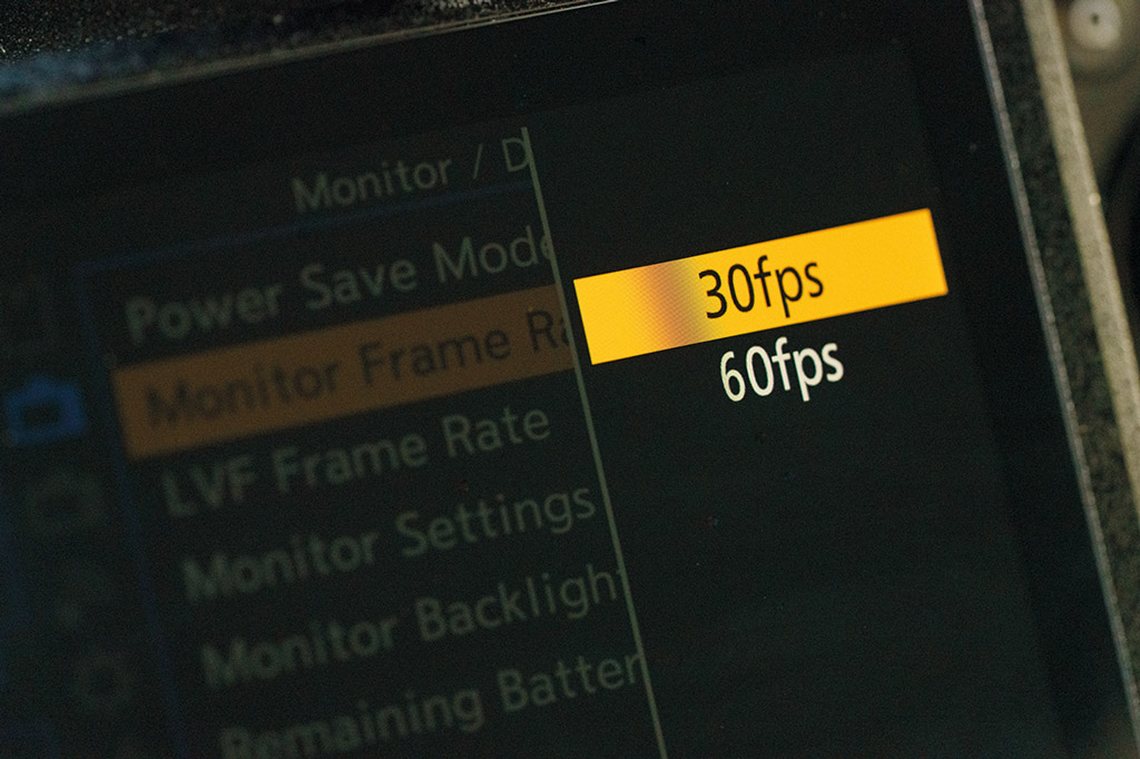 Reduce the viewfinder refresh rate