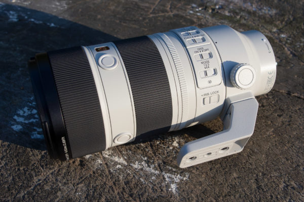 Sony FE 70-200mm F2.8 GM OSS II switches, with Iris control