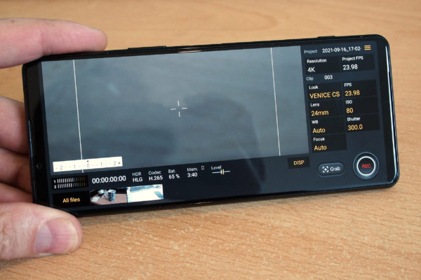 Cinema Pro on Sony Xperia 5 III - if you're an advanced film-maker this is for you